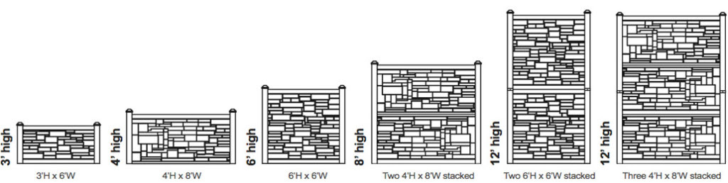 simtek ecostone fence sizes utah